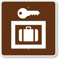 Lockers or Storage, MUTCD Campground Guide Sign