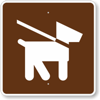 Pets on Leash, MUTCD Campground Guide Sign