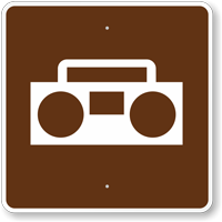 Radios, MUTCD Guide Sign for Campground