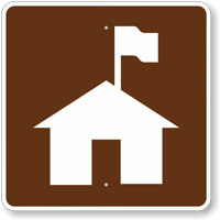 Ranger Station, MUTCD Guide Sign for Campground