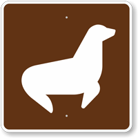 Seal Viewing, MUTCD Guide Sign for Campground