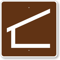 Trail Shelter, MUTCD Guide Sign for Campground