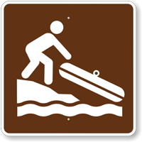 Hand Launch or Small Boat, MUTCD Guide Sign