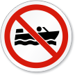 No Row Boating ISO Sign