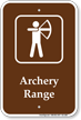 Archery Range, Campground Guide Sign