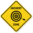 Archery Zone Caution Sign