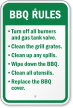 BBQ (Barbecue and Grilling) Rules Sign