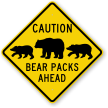 Bear Packs Ahead Sign