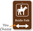 Bidirectional Bridal Path Campground Guide Sign