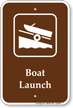 Boat Launch, Boating / Marine Recreation Sign