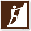 Climbing Symbol Sign For Campsite