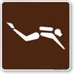 Diving (Scuba) Symbol Sign For Campsite