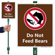 Do Not Feed Bears Lawnboss Sign