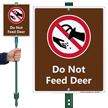 Do Not Feed Deer Lawnboss Sign