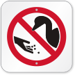 Do Not Feed Ducks Symbol Sign