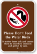 Do Not Feed Ducks Sign