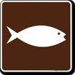 Fish Hatchery Symbol Sign For Campsite