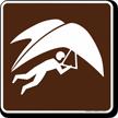 Hang Glider Symbol Sign For Campsite