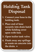 Holding Tank Disposal Instructions Sign