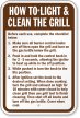 How To Light and Clean The Grill Sign