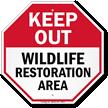 Wildlife Restoration Sign