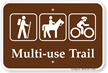 Multi Use Trail Campground Sign