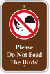 No Feeding Campground Sign