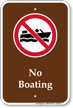 No Boating, Marine Recreation Sign