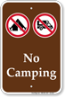 No Campings Sign