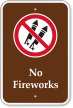 No Fireworks with Graphic Campground Sign