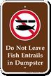 Don't Leave Fish Entrails in Dumpster Sign