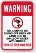 No Jumping Or Diving Pool Sign