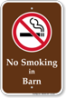 No Smoking In Barn Campground Sign