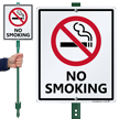No Smoking with Graphic Sign