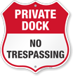 Private Dock Shield Sign