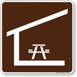 Picnic Shelter Symbol Sign For Campsite