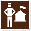 Ranger Station Symbol Sign For Campsite