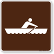 Row Boating Symbol Sign For Campsite