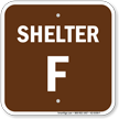 Shelter F Evacuation Assembly Area Sign