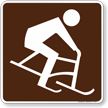 Skiing (Bobbing) Symbol Sign For Campsite