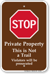 Stop Private Property Campground Sign