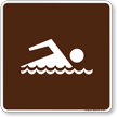 Swimming Symbol Sign For Campsite