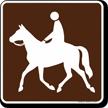 Trail (Horse) Symbol Sign For Campsite