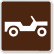 Trail/Road Vehicle Symbol Sign For Campsite