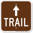 Trail Up Arrow Campground Sign