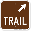 Trail Up Arrow Pointing Right Campground Sign