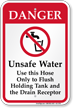 Unsafe Water Use Hose Only Danger Sign