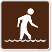 Wading Symbol Sign For Campsite