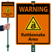 Warning Rattlesnake Area LawnBoss Sign