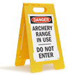 Danger Archery Range Do Not Enter Standing Floor Sign